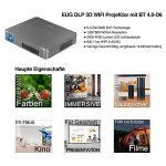 Pico WiFi Mini DLP Projecteur 3D Wxga Bluetooth Portable Projector-350 ANSI Lumen soutien Full Hd 1080P Airplay Apps, Batterie Intégrée pour Bussiness Travel,Camping, Outdoor Movie Home Theater de la marque WIKISH image 2 produit