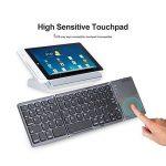 pliable clavier Bluetooth avec Touchpad, Aurtec Portable rechargeable Mini clavier sans fil pour PC, tablette, Samsung, Android, iOS, smartphone–Gris foncé de la marque AURTEC image 4 produit