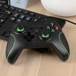 Pour Xbox One/Xbox One S contrôleur de jeu, Kobwa filaire USB double Vibration Joystick pour Xbox One (s) et PC avec prise jack 3,5mm et Micro de la marque Kobwa image 4 produit