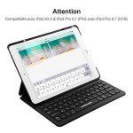 Poweradd Clavier Bluetooth AZERTY pour iPad Clavier Français Sans Fil (iPad Non Inclus) avec Etui Housse, Compatible seulement avec iPad Air 2 et iPad Pro 9.7 (Pas iPad 2018 9.7) de la marque POWERADD image 1 produit