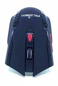 Proxima1Wireless Mouse Ei7Boutons 2,4G USB Optique sans fil Gaming et bureau pour ordinateur portable PC Mouse ergonomique souris avec Nano Recver, 5niveaux de DPI réglable, LED Lumière bleue, deux modes d'économie d'énergie pour Windows 7/8/10/XP/Vis image 0 produit