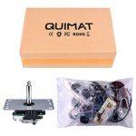 Quimat Arcade Kit ,Game handle,Kit de Jeu d'arcade de Bricolage Pour PC et Raspberry Pi 1/2/3 avec RetroPie, Joystick 5Pin, 8x 30MM et 2x 24MM Boutons < Noir > de la marque Quimat image 6 produit