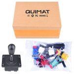 Quimat Joystick Arcade Metallic / 8pcs Micro-interrupteurs 1P / 2P Start Boutons / 6pcs Boutons pour Jeu vidéo MAME JAMMA QR01 de la marque Quimat image 4 produit