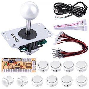 Quimat Kit de Jeu d'arcade de Bricolage Pour PC Et Raspberry Pi 1/2/3 avec RetroPie, Joystick 5Pin, 8x 30MM et 2x 24MM Boutons < Blanc > de la marque Quimat image 0 produit