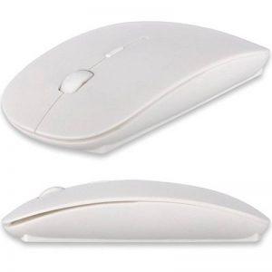 Realmax® 2,4GHz USB sans fil Bluetooth Cordless Optical Mouse Molette de défilement pour PC Ordinateur Windows pour ordinateur portable MacBook iMac MacBook Pro blanc-noir de la marque REALMAX® image 0 produit