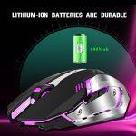 Rechargeable 2.4Ghz Souris Gamers sans fil avec 7 Couleurs Rétro-éclairé (600 Mah Batterie au lithium) de la marque HUAYU TECHNOLOGY CO.,LIMITED image 3 produit