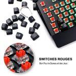 REIDEA Clavier Mécanique AZERTY RGB, Entièrement Programmable Clavier de Jeu Mécanique,Switches Rouges et 105 touches Anti-Ghosting de la marque REIDEA image 2 produit