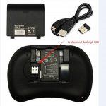Rii Mini i8 Wireless (AZERTY) - Mini Clavier Française Ergonomique sans Fil avec Touchpad - Pour Smart TV, mini PC, HTPC, Console, Ordinateur de la marque Rii image 3 produit