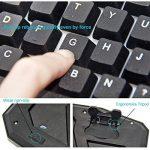 Rii Rétro-éclairage 7 Luminosités de Couleurs Clavier USB Gaming et Souris avec 1000-1600-2000 DPI et 4 Touches, Clavier AZERTY(Clavier de Gaming et Souris) de la marque RiiTek image 2 produit