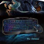 Rii Rétro-éclairage 7 Luminosités de Couleurs Clavier USB Gaming et Souris avec 1000-1600-2000 DPI et 4 Touches, Clavier AZERTY(Clavier de Gaming et Souris) de la marque RiiTek image 6 produit