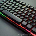 Rii RK100+ clavier 5 Couleurs LED rétro-éclairé USB Filaire AZERTY de la marque Rii image 1 produit