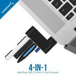 Sabrent 4-Port Hub USB 2.0 Moyeu Rotatif [90°/180° Degré Rotatif] (HB-UMN4) de la marque Sabrent image 2 produit