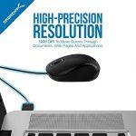Sabrent Mini USB Optical Mouse Souris de voyage avec câble rétractable (Ms-opmn) de la marque Sabrent image 1 produit