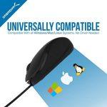 Sabrent Mini USB Optical Mouse Souris de voyage avec câble rétractable (Ms-opmn) de la marque Sabrent image 6 produit