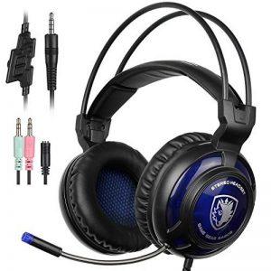 Sades SA805 Gaming Headset casque de jeu Over-Ear Gaming casque Gaming avec micro pour Multi-Platform NEUF Xbox One/PC/PS4 avec contrôle du volume (Noir/bleu) de la marque Sades image 0 produit