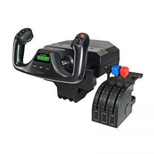 Saitek Joystick Pro Flight Yoke System 14 boutons de contrôle Pro Flight Throttle Quandrant inclus de la marque Saitek image 0 produit
