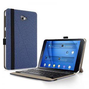 """Samsung Galaxy Tab A 10.1 Clavier Housse, Infiland Slim étui avec Clavier sans Fil Bluetooth Keyboard pour Samsung Galaxy Tab A 10,1"""" T580N / T585N (2016 Version) (Bleu Marine) de la marque Infiland image 0 produit"""