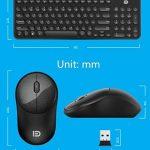 Sans fil ultra muet-clavier et souris minces réglés,accueil filles,ordinateur de bureau/notebook-A de la marque DANODAN image 1 produit