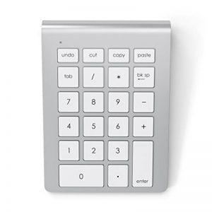 Satechi Clavier Pavé Numérique Aluminium Bluetooth Sans Fil pour Ordinateur Portable Macbook iMac PC Ordinateur de Bureau Compatible avec Windows et système OS X (Argent) de la marque Satechi image 0 produit