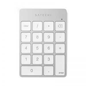Satechi Pavé Numérique Fin Sans fil Bluetooth Rechargeable 18 Touches Extension pour entrée de données sur Excel et Numbers sur iMac, MacBook Pro, Ordinateurs Portables (Argent) de la marque Satechi image 0 produit