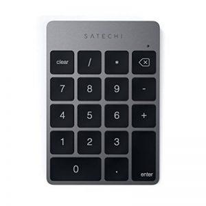 Satechi Pavé Numérique Fin Sans fil Bluetooth Rechargeable 18 Touches Extension pour entrée de données sur Excel et Numbers sur iMac, MacBook Pro, Ordinateurs Portables (Gris Sidéral) de la marque Satechi image 0 produit