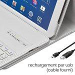 """Seluxion - Etui de Protection Blanc avec Clavier Azerty Connexion Bluetooth Pour Tablette Samsung Galaxy Tab 4 10.1 Pouces [Modèles Samsung Galaxy Tab 4 10.1"""" SM-T530 / SM-T535. Dimensions 176.4 x 243.4 x 7.9 mm] de la marque KARYLAX image 3 produit"""