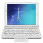 Seluxion - Etui de Protection Blanc avec Clavier Azerty Connexion Bluetooth Pour Tablette Samsung Galaxy Tab E 9.6 Pouces [Modèles Samsung Galaxy Tab E 9.6 SM-T560 / SM-T561 / SM-T565. Dimensions 241.9 x 149.5 x 8.5 mm] de la marque KARYLAX image 1 produit