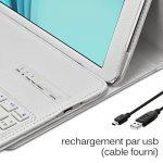 Seluxion - Etui de Protection Blanc avec Clavier Azerty Connexion Bluetooth Pour Tablette Samsung Galaxy Tab E 9.6 Pouces [Modèles Samsung Galaxy Tab E 9.6 SM-T560 / SM-T561 / SM-T565. Dimensions 241.9 x 149.5 x 8.5 mm] de la marque KARYLAX image 3 produit