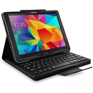 """Seluxion - Etui de Protection Noir avec Clavier Azerty Connexion Bluetooth Pour Tablette Samsung Galaxy Tab 4 10.1 Pouces [Modèles Samsung Galaxy Tab 4 10.1"""" SM-T530 / SM-T535. Dimensions 176.4 x 243.4 x 7.9 mm] de la marque KARYLAX image 0 produit"""