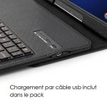 Seluxion - Etui de Protection Noir avec Clavier Azerty Connexion Bluetooth Pour Tablette Samsung Galaxy Tab E 9.6 Pouces [Modèles Samsung Galaxy Tab E 9.6 SM-T560 / SM-T561 / SM-T565. Dimensions 241.9 x 149.5 x 8.5 mm] de la marque KARYLAX image 2 produit