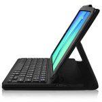 Seluxion - Etui de Protection Noir avec Clavier Azerty Connexion Bluetooth Pour Tablette Samsung Galaxy Tab E 9.6 Pouces [Modèles Samsung Galaxy Tab E 9.6 SM-T560 / SM-T561 / SM-T565. Dimensions 241.9 x 149.5 x 8.5 mm] de la marque KARYLAX image 1 produit