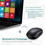 Souris Bluetooth 4.0 et Souris Sans Fil Optique, TOPELEK Souris Wireless Double Mode [Mode Bluetooth et Mode Sans Fil] , Batterie de 15 Mois pour Odinateurs Portables, PC, Ordinateur Bureaunique de la marque TOPELEK image 1 produit