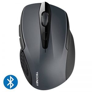 Souris Bluetooth sans fil, TeckNet Wireless Bluetooth Mouse, 5 niveaux de DPI ajustables, 2600 DPI, 6 boutons de la marque TeckNet image 0 produit