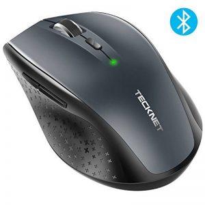 Souris Bluetooth sans fil, TeckNet Wireless Mouse, 5 niveaux de DPI ajustables, 3000 DPI, 6 boutons de la marque TeckNet image 0 produit