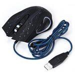 Souris de Jeu Optique 6 Boutons d'éclairage USB Câblé Professionnel Support de Lumière LED Souris Réglable 2400DPI PC de la marque GuDoQi image 4 produit