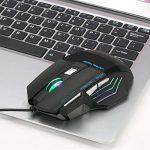 Souris Gamer, QueenDer Souris Optique USB Professionnel 4 DPI Réglable(3200/2400/1600/1000) Filaire Jeux de Souris 7 Boutons Rétroéclairage LED Joueurs Gaming Mouse pour Ordinateur Portable/Bureau/PC de la marque QueenDer image 5 produit