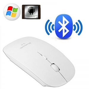 Souris sans fil Bluetooth 3.0 [Optique et Rechargeable] Design [Ultra, Fine & Plate] Blanc Optique 800/1200/1600 DPI USB PC Windows MAC Macbook de la marque Facil&co image 0 produit