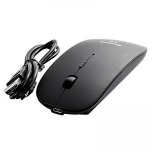 Souris sans fil Bluetooth 3.0 [Optique et Rechargeable] Design [Ultra, Fine & Plate] Noir 800/1200/1600 DPI USB PC Windows MAC Macbook de la marque Facil&co image 0 produit
