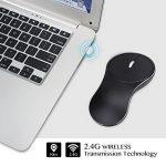 Souris sans fil portable Mini USB Souris optique de luxe en aluminium batterie au lithium intégrée de la marque WPPOWER image 2 produit