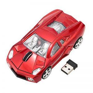 Souris Sans Fil Voiture De Sport En Forme 2.4Ghz Souris Optique 1000Dpi Pour PC Ordinateur Portable Rouge de la marque GuDoQi image 0 produit