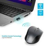 TeckNet Classic 2.4G Souris Sans Fil Wireless Mouse Optique, 2400 ppp, 5 niveaux de ppp ajustables, 6 Boutons, Durée de vie de la batterie 18 mois, Nano-Récepteur de la marque TeckNet image 3 produit