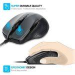 TeckNet Mouse Pro S2 Souris Filaire Suivi Optique Haute Définition USB, Boutons 6, 2000 ppp de la marque TeckNet image 2 produit