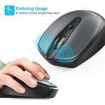 TeckNet Omni Mini souris sans fil 2.4G sans fil souris sans fil Wireless Mouse, 3sonore: 2000/1500/1000dPi de DPI réglable, 18mois d'autonomie, Nano Récepteur de la marque TeckNet image 2 produit