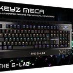 The G-Lab KEYZ-MECA Clavier gamer mécanique , 105 touches éclairées individuellement, chassis en métal, système 'N-Key Roll over' de la marque The G-Lab image 3 produit
