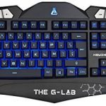 The G-Lab KEYZ200-N, Clavier gaming QWERTY Anglais, rétroéclairé, 19 touches anti-ghosting, 8 raccourcis multimédia de la marque The G-Lab image 1 produit