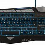 The G-Lab KEYZ300, Clavier gaming QWERTY Anglais, filaire, à rétroéclairage bleu rouge et violet, 15 macros programmables, 6 raccourcis multimédia, 26 touches 'anti-ghosting de la marque The G-Lab image 1 produit