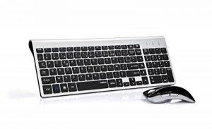 Topmate KM9001 Ensembles Clavier et Souris Sans Fil pour PC et ordinateur portable (AZERTY) (Noir argent) de la marque Topmate image 0 produit