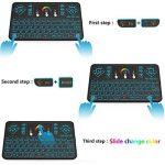 Tripsky Q9rétroéclairé coloré Mini clavier sans fil et souris Touchpad, poignée de 2,4GHz à distance pour Android TV Box, Windows PC, HTPC, IPTV, Raspberry Pi, Xbox 360, PS3, PS4(Noir, US Layout) de la marque Tripsky image 3 produit