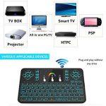 Tripsky Q9rétroéclairé coloré Mini clavier sans fil et souris Touchpad, poignée de 2,4GHz à distance pour Android TV Box, Windows PC, HTPC, IPTV, Raspberry Pi, Xbox 360, PS3, PS4(Noir, US Layout) de la marque Tripsky image 4 produit