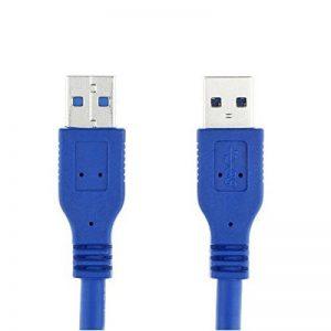 USB 3.0 Câble d'Extension Mâle A vers Femelle A jusqu'à 5Gbps Câble Rallonge USB 3.0 pour Clé USB, Hub USB, Disque Dur Externe, Clavier, Souris, Imprimante, Manette de Jeu Câble d'extension USB 3.0 haute vitesse A mâle à une ligne de connexion mâle de la image 0 produit